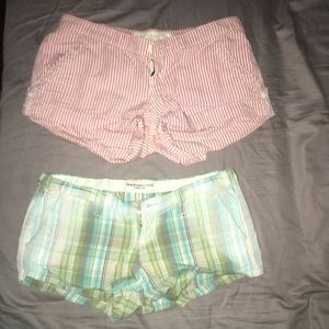 2 Pairs Abercrombie & Fitch Shorts Size 00